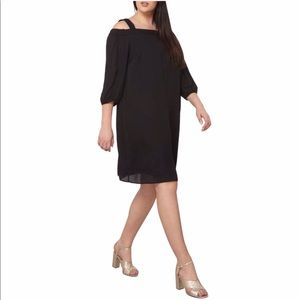 Dorothy Perkins LBD Black Bardot Dress NWT18encore